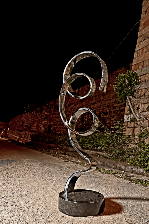 Ribbon stainless steel sculpture