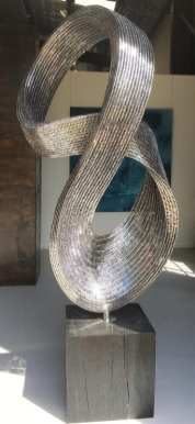 Contemporary Metal Sculpture Epic Stainless Steel Sculpture