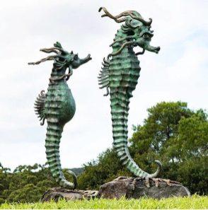 Mystic Seahorses - by Petrena Shaw at Sculptura 012