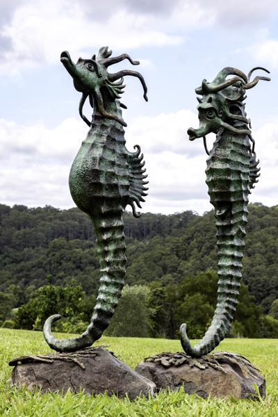 Mystic Seahorses - by Petrena Shaw at Sculptura 013