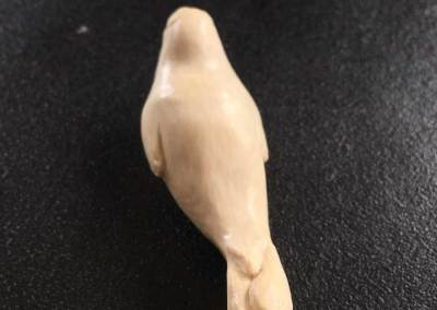 Carved seal necklace in Mammoth ivory tusk