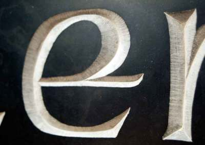 hand-carved lettering Celtic slate house sign Glenochty