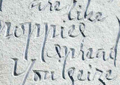 Previous letter-carving examples