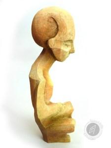 Liseuse, 2014 (argile, gomme-laque)
