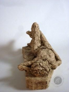 """""""Femme allongée"""" 2011 (argile patinée)"""