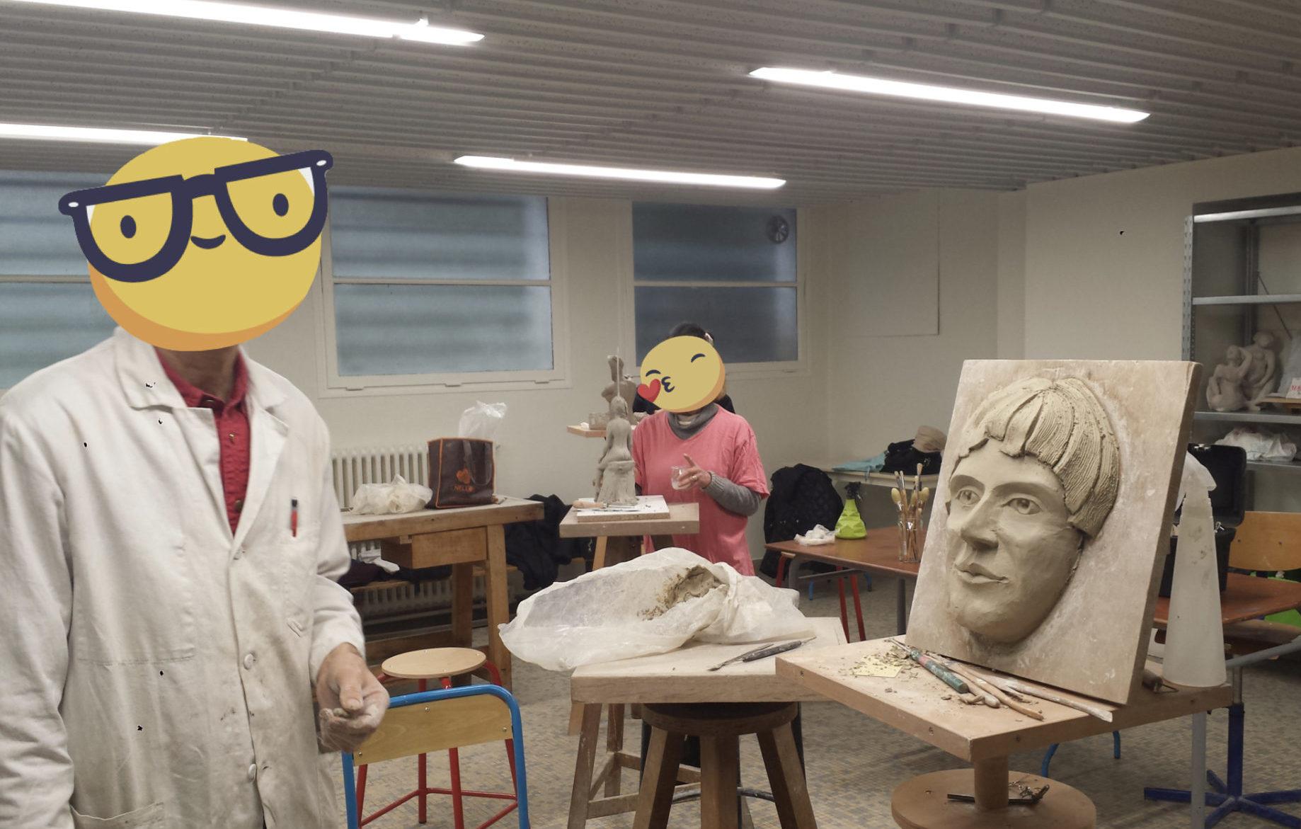 atelier sculpture modelage cours adultes orsay