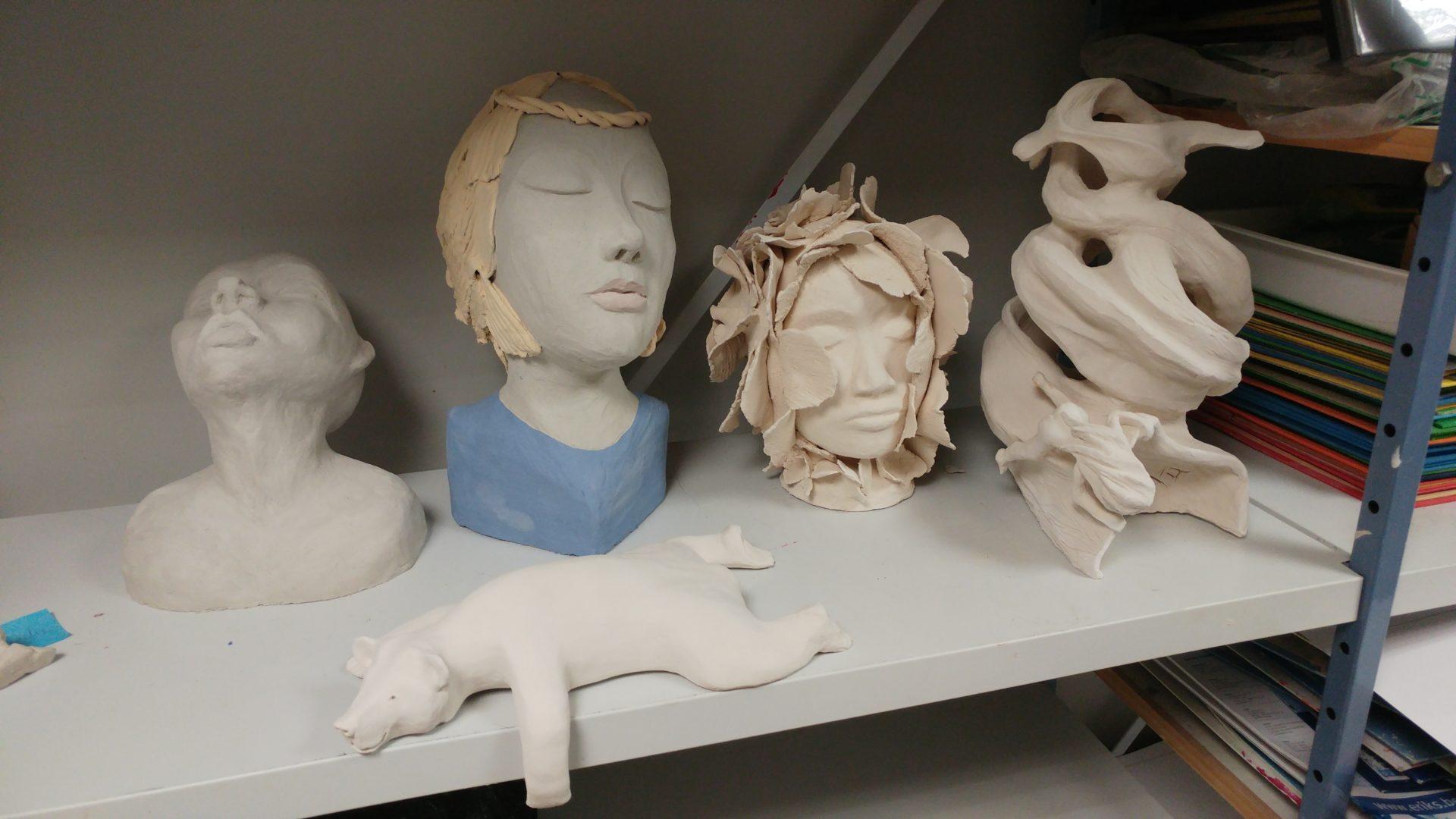 cours sculpture créations des adultes