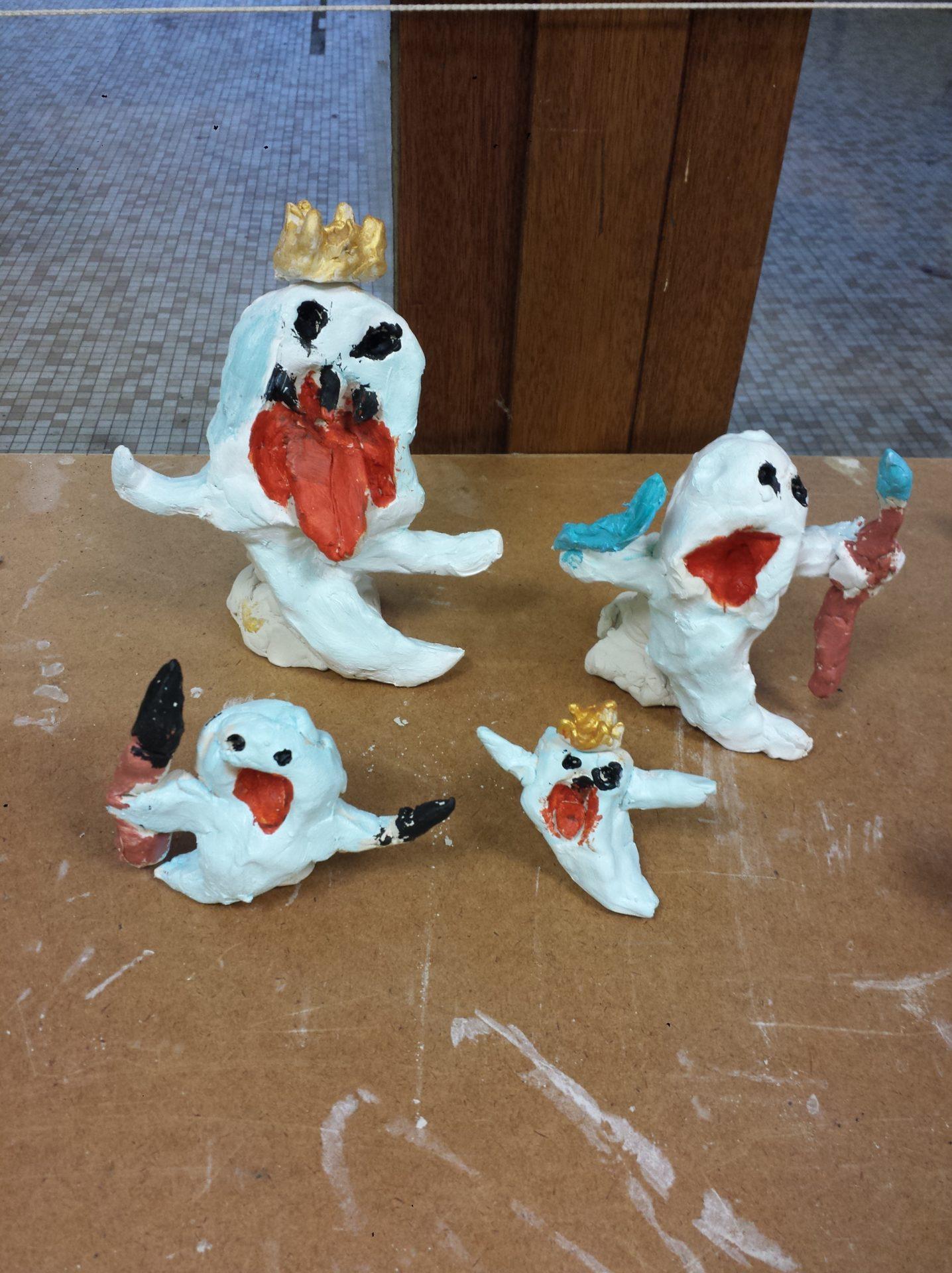 poterie enfants : des fantomes