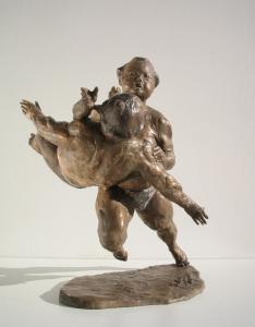 Le catene della vita cm.35x31x21 anno 2006 - statue statuette e sculture di bronzo in vendita a prezzi speciali dall'artista scultore