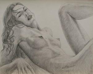 Nudi-artistici-nudo-di-donna-studio per Chiara_disegni_by_Vittorio_Tessaro