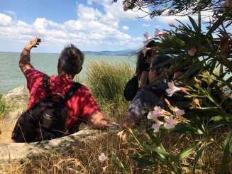 Un momento dell'esplorazione dell'isola