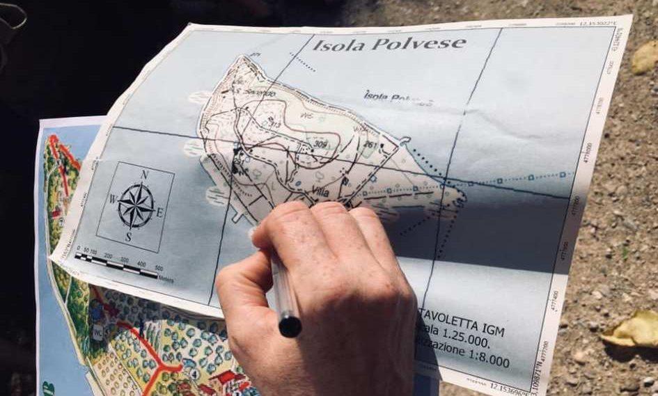 La mappa dell'Isola Polvese