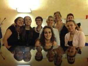 Immagine di Renza Landini e di una sua classe