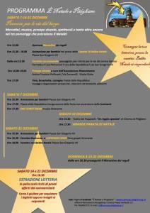 """Immagine del manifesto che pubblicizza l'iniziativa """"Natale a Pitigliano"""""""