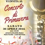 La locandina del Concerto primavera 2016