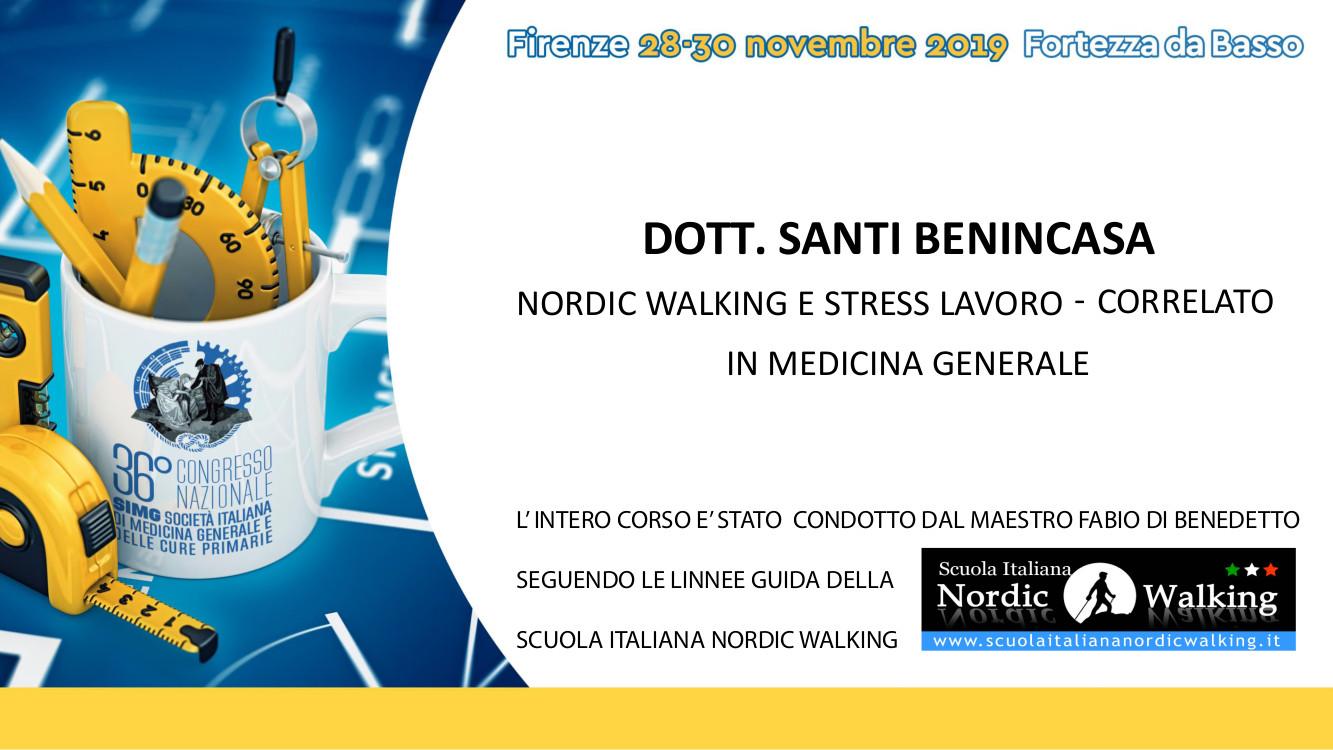 """A Firenze dal 28 al 30 novembre il convegno su """"Nordic Walking e stress lavoro correlato, in medicina generale"""""""