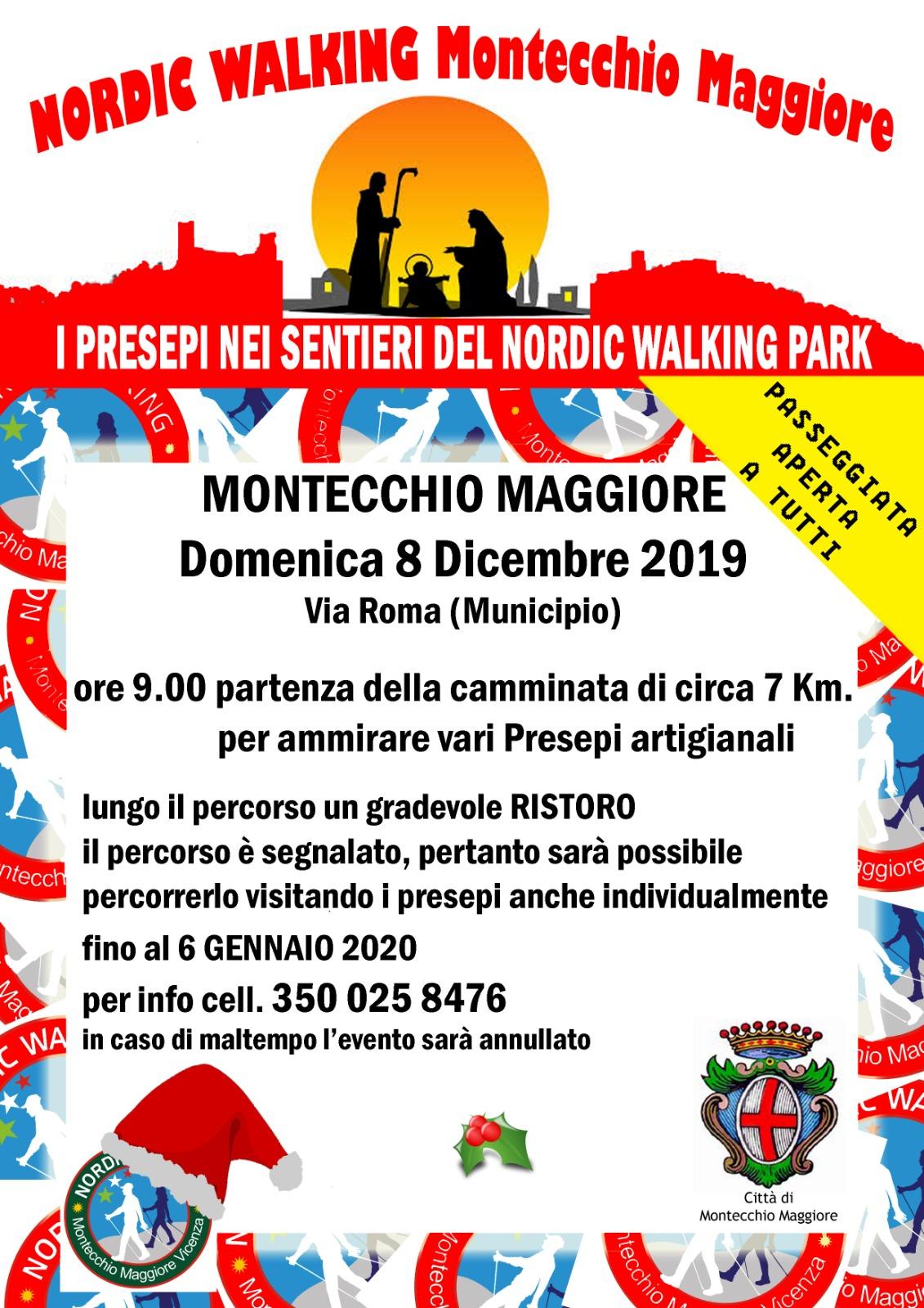 I presepi nei sentieri del Nordic Walking Park – 8 dicembre 2019 a Montecchio Maggiore (VI)