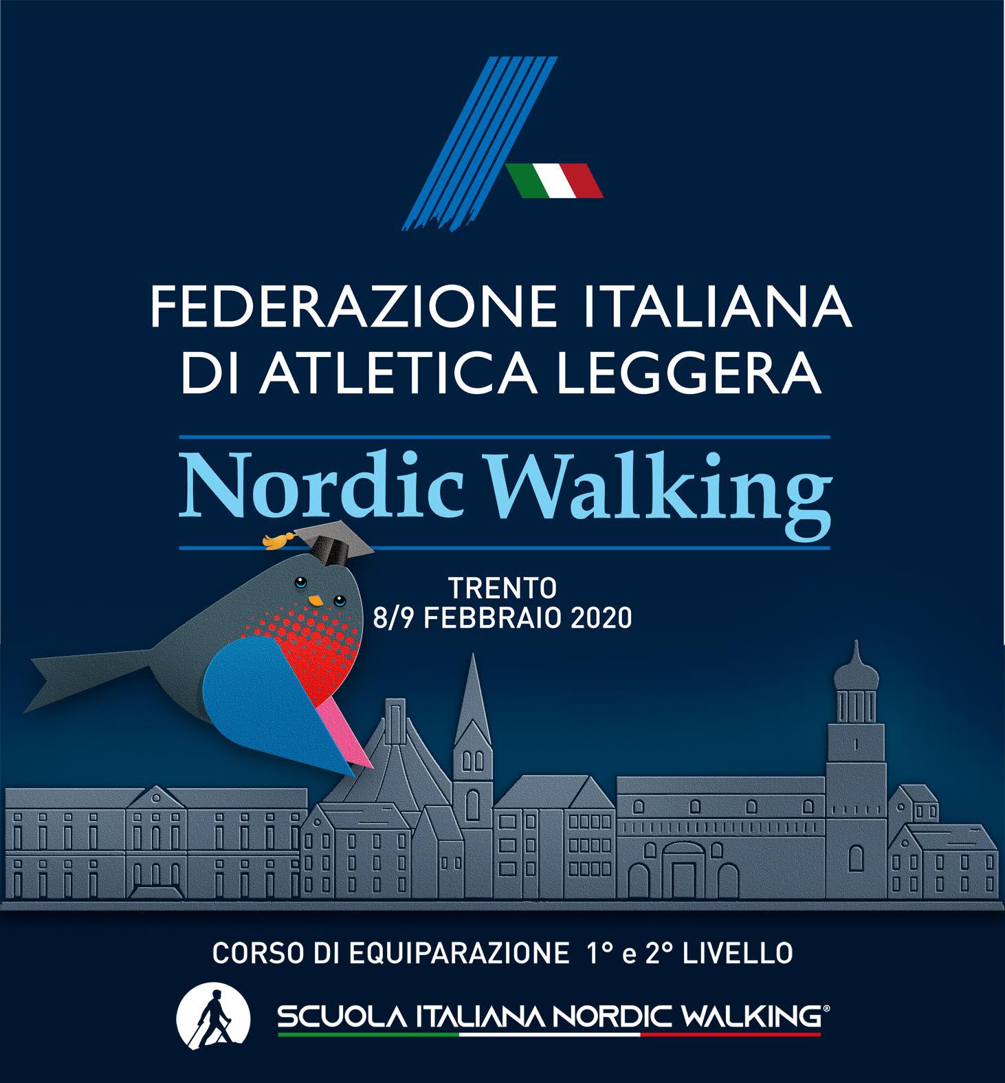 8 e 9 FEBBRAIO 2020: nuovo corso di equiparazione Fidal per istruttori federali di nordic walking