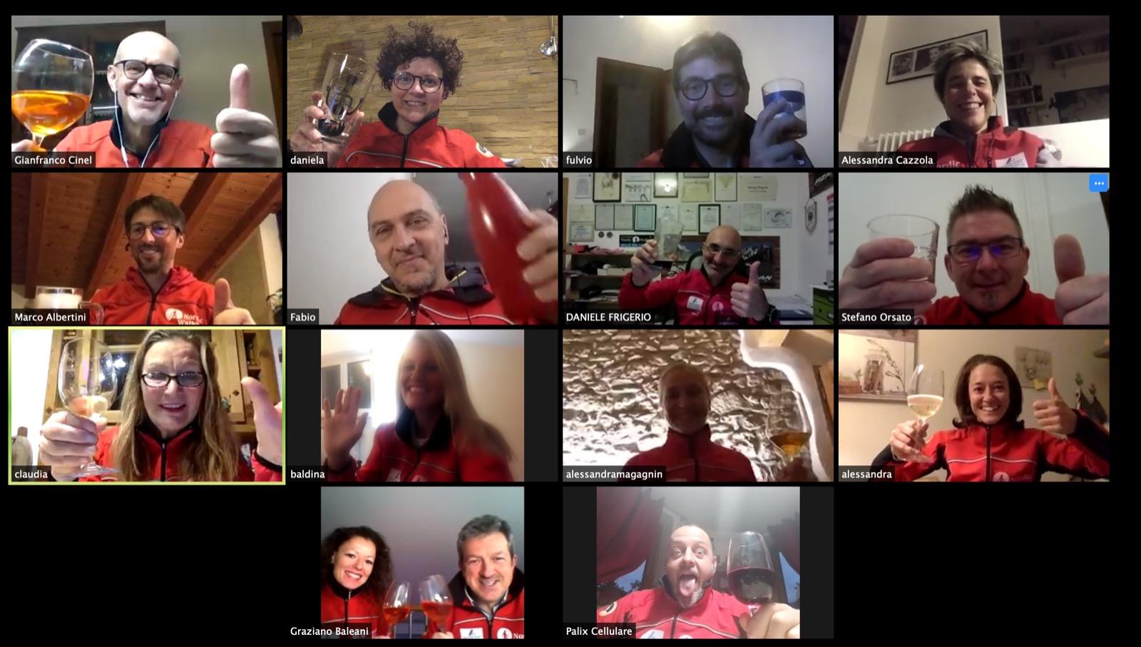 Aperitivo virtuale dei Master Trainer SINW: sorrisi, idee e nuovi progetti
