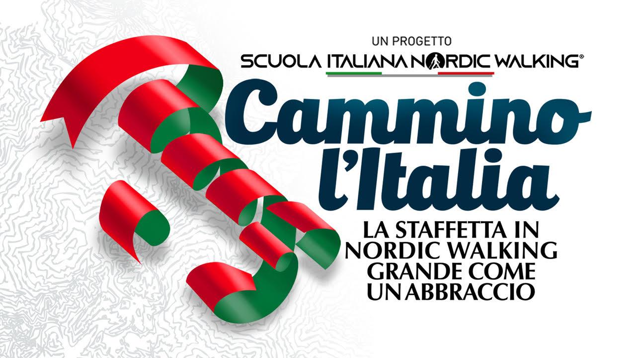 """""""Cammino l'Italia"""", la staffetta di Nordic Walking che abbraccia tutto lo Stivale"""