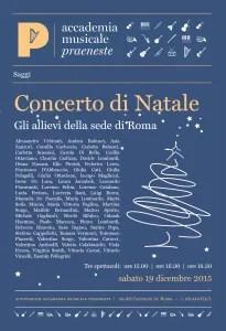 saggi: Roma 19 dicembre 2015