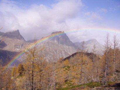 Arcobaleno sui monti
