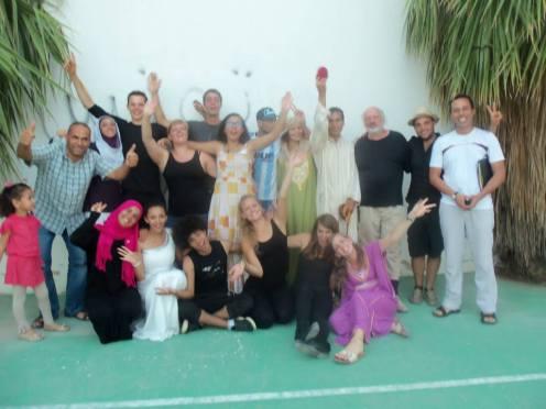 Tunesische Theatergruppe im Hunsrück