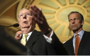 John Thune and Mitch McConnell