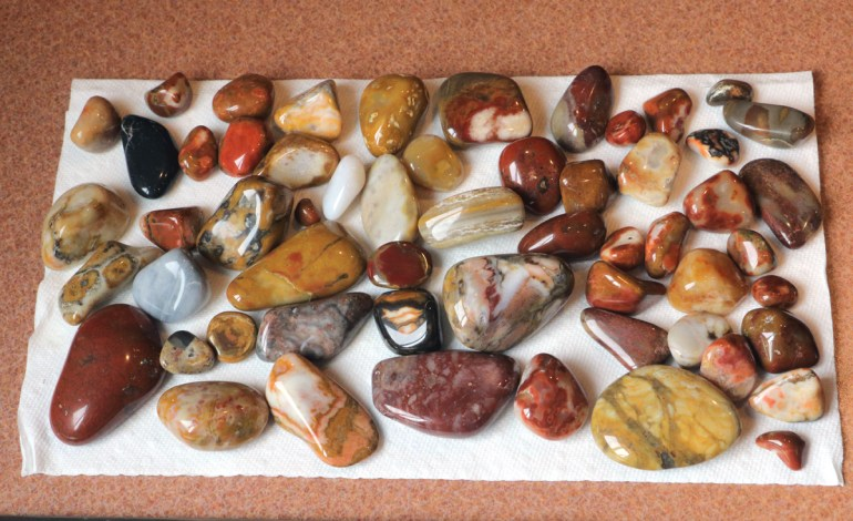 Polished South Dakota jaspers and agates