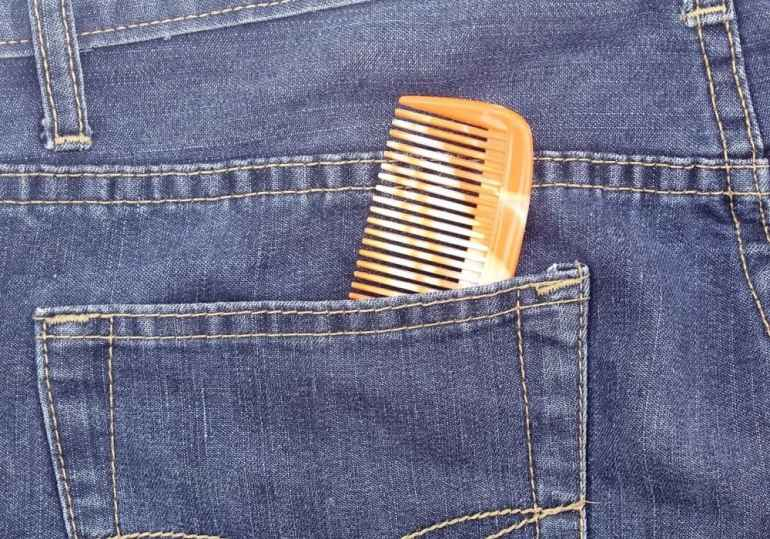 Comb in jeans pocket (1980s)