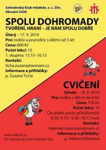 Plakátek tvoření a cvičení v rámci klubu pro rodiče s dětmi