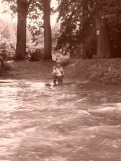 Srbská Kamenice- brod přes potok