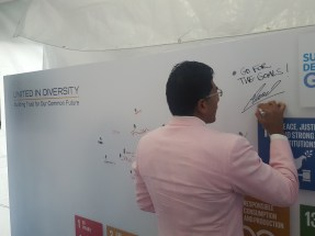 Thumb Print and signature in support of SDGs