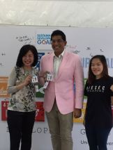 with Darryl David and Jie Ning, PR & Marketing Director from AIESEC Singapore