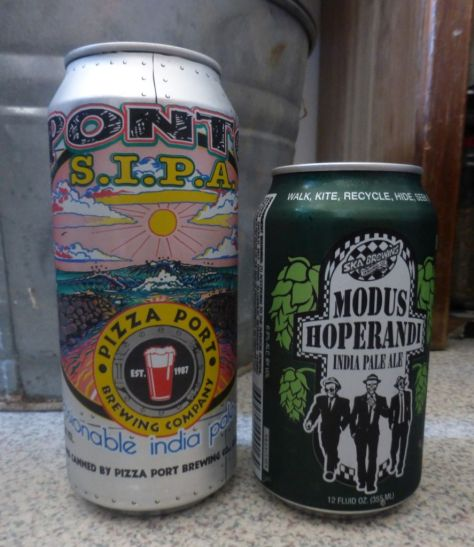 Pizza Port SIPA (left), Modus Hoperandi (right)
