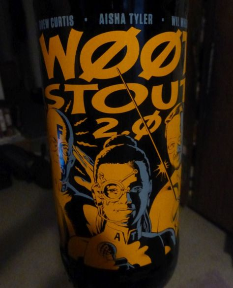 w00tstout 2.0 bottle closeup.