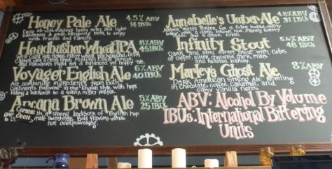 Part of the tap list when I visited. Specialty beers were on a smaller board.