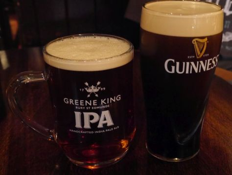 First English IPA I had along with my husband's Guinness. IPA was 4%!