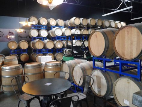 The large number of barrels in the brewery indicates how deeply they have gone into barrel aging.