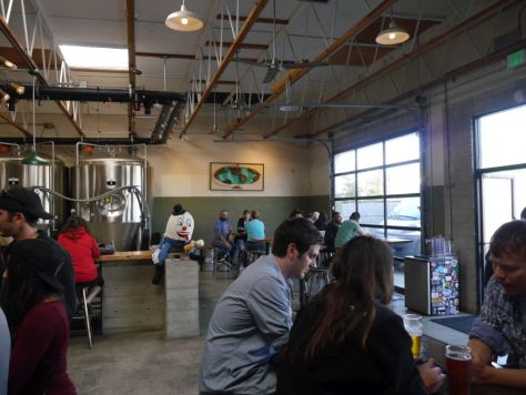 The brewery has a nice wide open space.