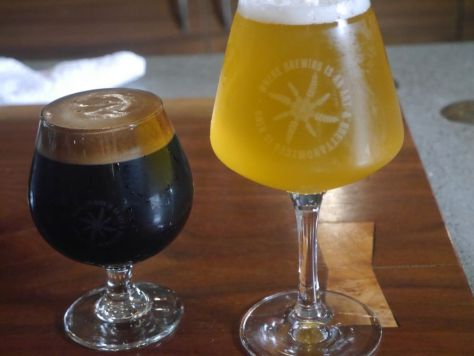 Brett saison and Imperial Stout.