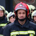 Revue Quinquennale du SDISPO 2021 à Chavornay en l'honneur du Commandant Pascal Turin, bientôt retraité des pompiers.