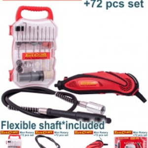 MINI ROTARY TOOL AND 72 PC ACCESSORY KIT WITH FLEXIBLE SHAFT