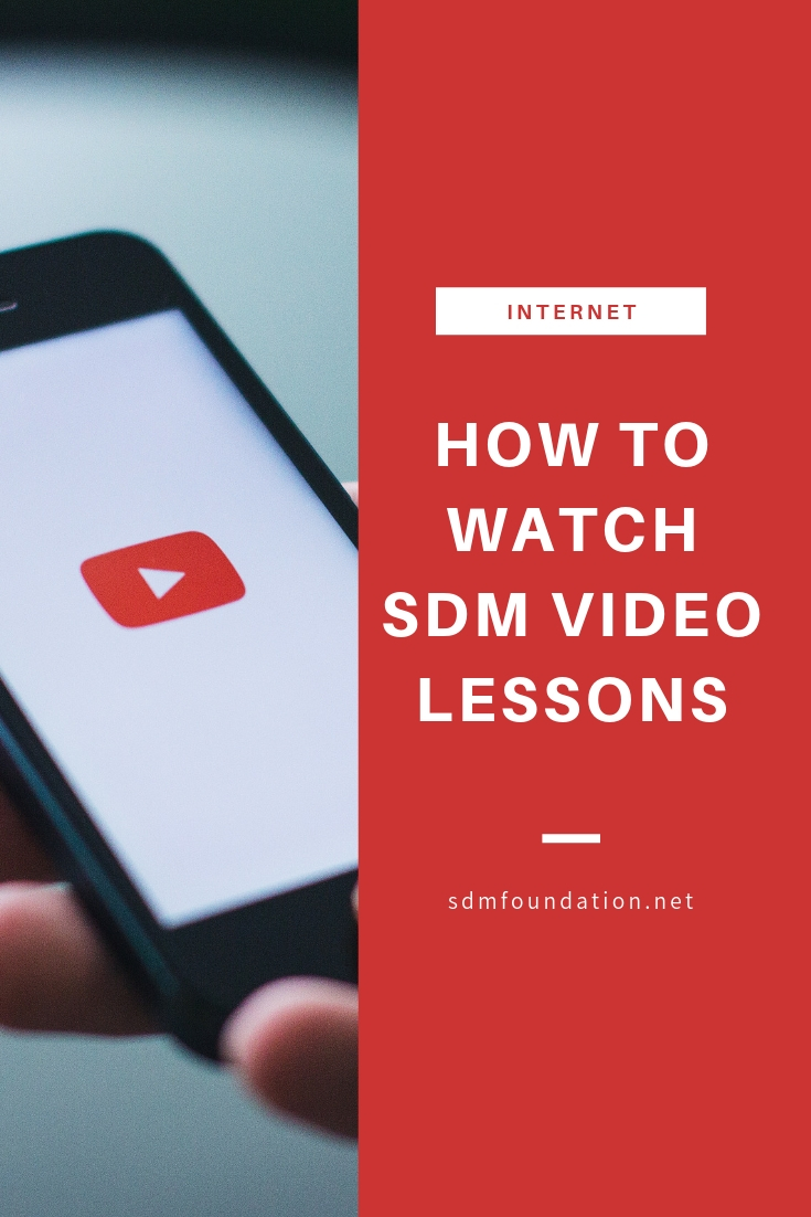How to watch SDM video lessons