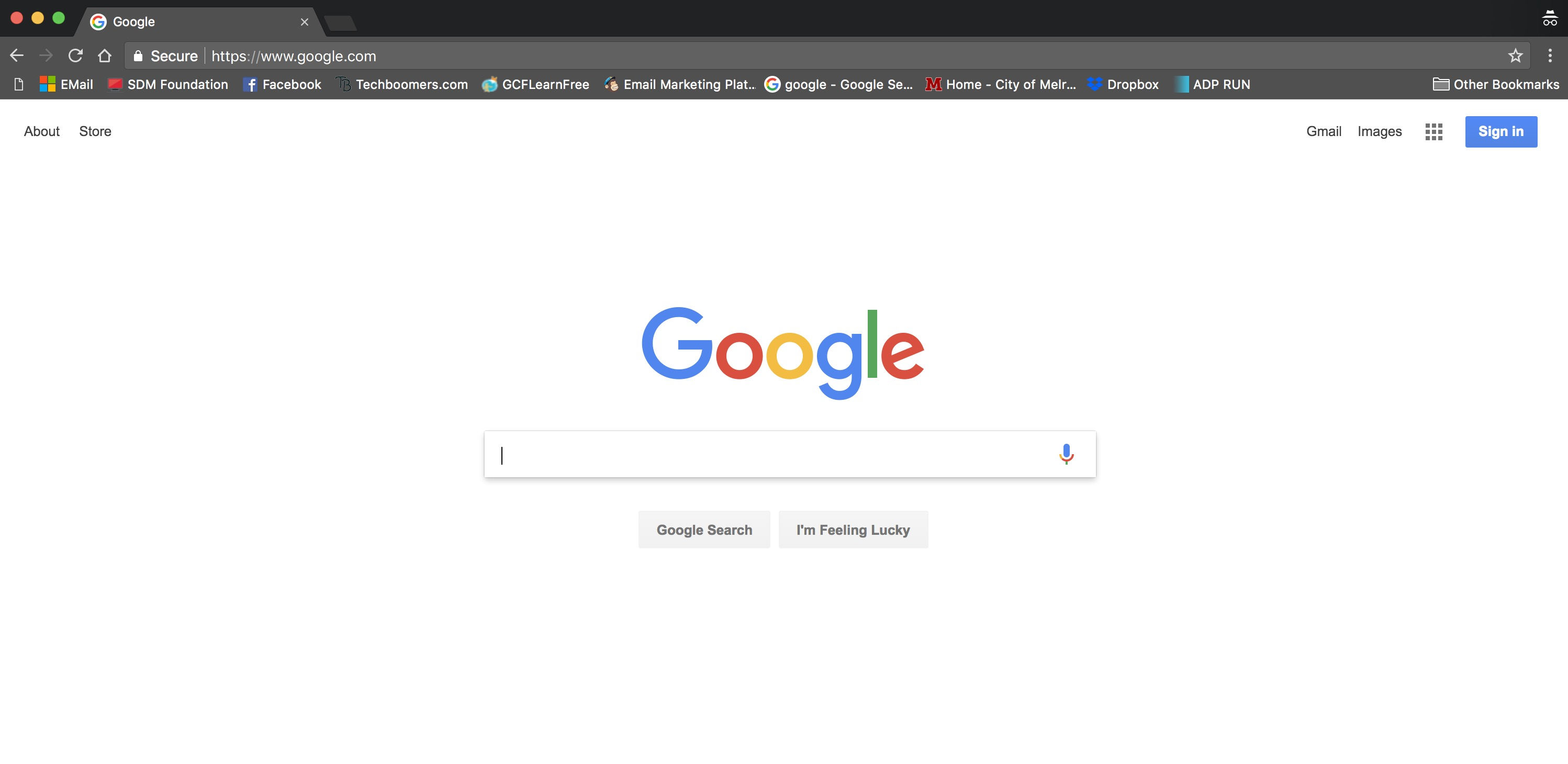How to search using the chrome browser - SDM Foundation