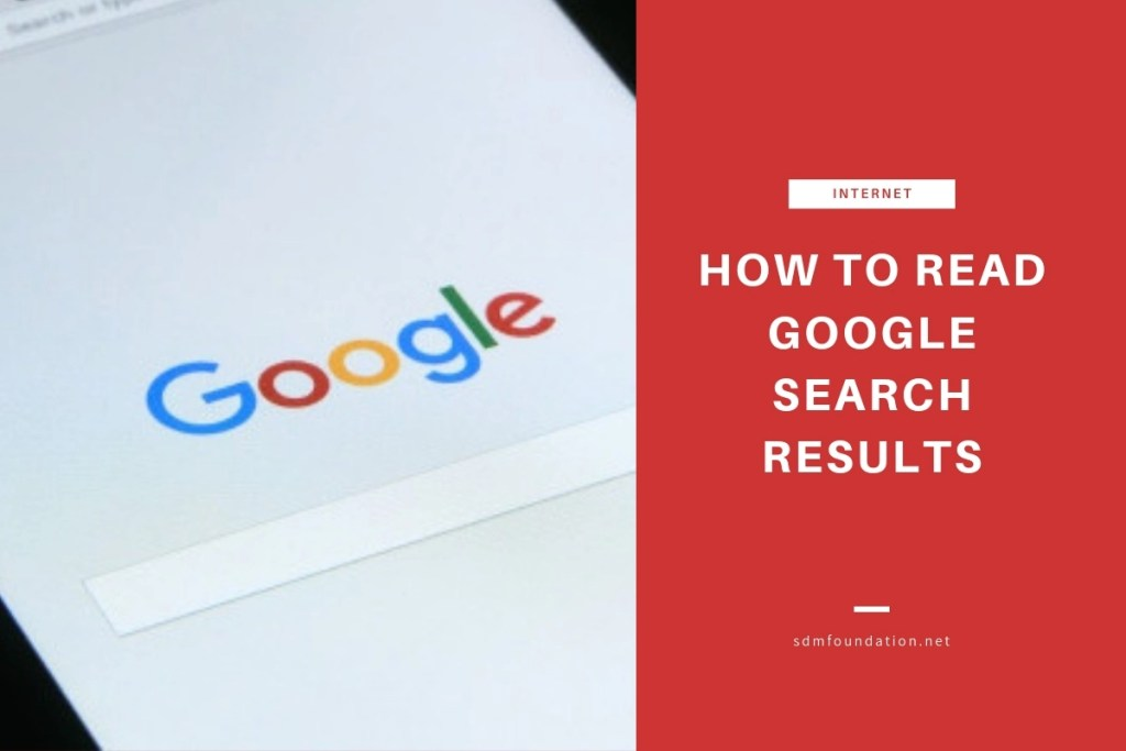 How to read Google search results