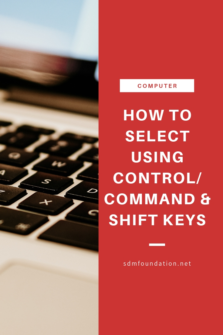 How to select using control_command and shift keys