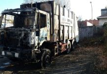 Incendio a Novara in via Fauser