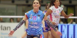 Sansonna, tra le migliori in campo con Conegliano. foto www.agilvolley.com