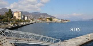 Il lungolago Palatucci a Pallanza e l'area dove sorgerà il porto turistico